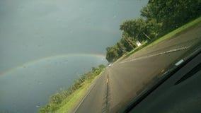 O arco-íris bonito do deus fotografia de stock