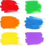 O arco-íris brilhante colore manchas do marcador do vetor ilustração stock