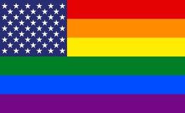O arco-íris colore a bandeira do sumário dos E.U. do orgulho da imagem do vetor ilustração do vetor