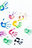 O arco-íris colore cópias dos braços Imagem de Stock Royalty Free