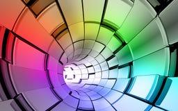 O arco-íris colore o fundo da tecnologia ilustração royalty free