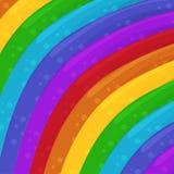 O arco-íris colore o fundo Ilustração do projeto do fundo dos desenhos animados? com espaço do texto wallpaper Ilustração do veto ilustração do vetor