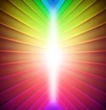 O arco-íris colore o fundo ilustração do vetor