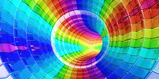 O arco-íris colore o panorama do fundo da tecnologia fotos de stock royalty free