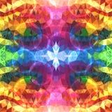 O arco-íris colore triângulos de brilho abstratos Imagens de Stock Royalty Free