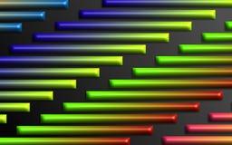 O arco-íris colorido barra o fundo - papel de parede dimensional abstrato das formas fotografia de stock