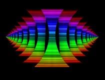 O arco-íris colorido dá forma ao fundo Imagens de Stock Royalty Free