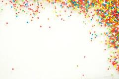 O arco-íris colorido polvilha o backgroung Foto de Stock