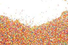 O arco-íris colorido polvilha o backgroung Imagem de Stock