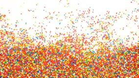 O arco-íris colorido polvilha o fundo Foto de Stock Royalty Free