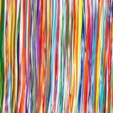 O arco-íris da arte abstrato curvado alinha o fundo colorido Fotos de Stock Royalty Free