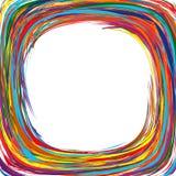 O arco-íris da arte abstrato curvado alinha o fundo colorido Imagem de Stock Royalty Free