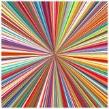 O arco-íris da arte abstrato curvado alinha o fundo colorido Imagens de Stock
