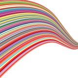 O arco-íris da arte abstrato curvado alinha o fundo colorido Imagem de Stock
