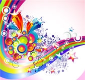 O arco-íris de Absrtact Stars o fundo ilustração royalty free