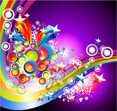 O arco-íris de Absrtact Stars o fundo ilustração do vetor