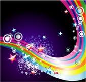 O arco-íris de Absrtact Stars o fundo Foto de Stock
