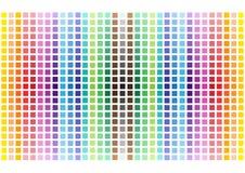 O arco-íris engraçado abstrato esquadra o fundo Foto de Stock