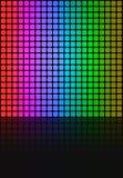 O arco-íris esquadra a disposição da grade Foto de Stock