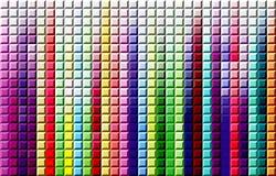 O arco-íris esquadrou o fundo Imagens de Stock