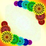 O arco-íris floresce o cartão Imagens de Stock Royalty Free