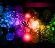 O arco-íris futurista ilumina o fundo Fotos de Stock