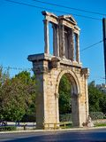 O arco de Hadrian Atenas, Attica, Grécia Fotos de Stock