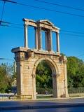 O arco de Hadrian Atenas, Attica, Grécia Foto de Stock Royalty Free