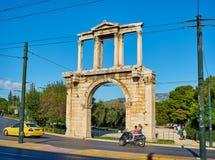O arco de Hadrian Atenas, Attica, Grécia Foto de Stock