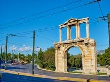 O arco de Hadrian Atenas, Attica, Grécia Imagens de Stock