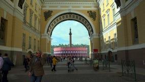 O arco do estado maior geral O quadrado do palácio St Petersburg 4K filme