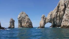 O arco famoso em Cabo San Lucas Mexico foto de stock