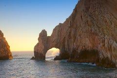 O arco no por do sol em Cabo Foto de Stock Royalty Free