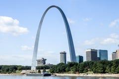 O arco no rio Mississípi Fotos de Stock