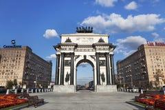 O arco triunfal em Moscovo imagens de stock royalty free