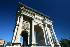 O arco triunfal, Milão, Italy Foto de Stock