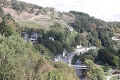 O Ardenne no lugar La Roche em Bélgica Fotos de Stock Royalty Free