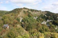 O Ardenne no lugar La Roche em Bélgica Fotos de Stock