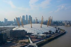 O2 Arena in Greenwich, Londen, Engeland Stock Foto's
