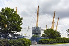 The O2 Arena at Greenwich, London, England, Great Britain. LONDON, ENGLAND - JUNE 17 2016:  The O2 Arena at Greenwich, London, England, Great Britain Royalty Free Stock Photo