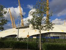 The O2 Arena in London Greenwich Peninsula. The O2 Arena in London North Greenwich royalty free stock image