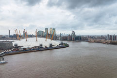 The O2 Arena in London on a rainy day Stock Images