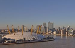 The O2 Arena in London stock photos