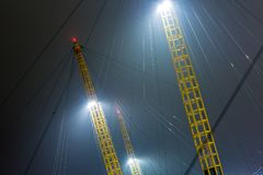 O2 arena in the night, London. UK Stock Photos