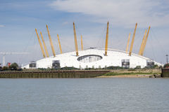 O2 Arena and River Thames, London Royalty Free Stock Images