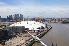 O2 Arena and River Thames, London Stock Image