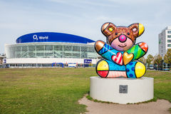 O2 Arena and Romero Britto sculpture Royalty Free Stock Photo