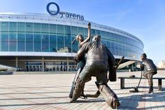 O2 arena, Vysocany, Prague, Tjeckien Fotografering för Bildbyråer