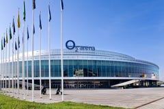 O2 arena, Vysocany, Prague, Tjeckien Royaltyfri Bild