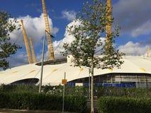 O2 arena w Londyńskim Greenwich półwysepie Obraz Royalty Free